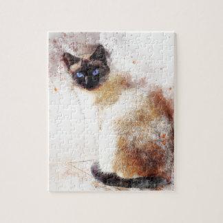 Éléments d'abrégé sur chat siamois puzzle