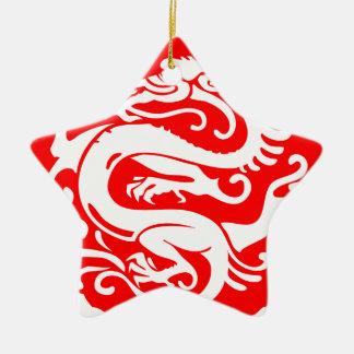 éléments de la Chine de porcelaine de dragon Ornement Étoile En Céramique