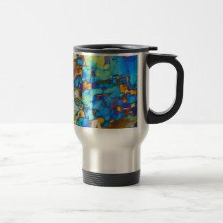 Éléments/yttrium sous le microscope mug de voyage en acier inoxydable