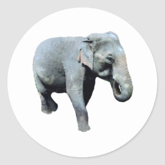 Éléphant 1p de l Indochine laissé Autocollant