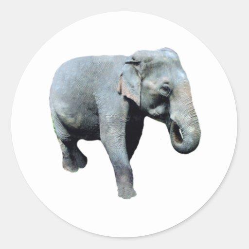 Éléphant 1p de l'Indochine laissé Adhésifs Ronds