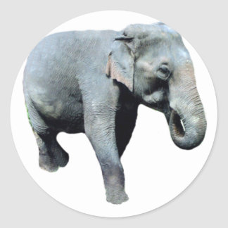 Éléphant 1p de l'Indochine laissé Sticker Rond