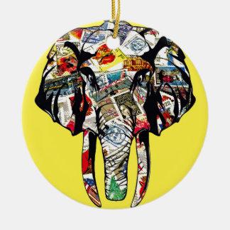 éléphant-2.jpg ornement rond en céramique