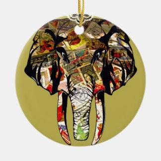 éléphant-4.jpg ornement rond en céramique