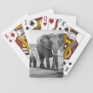 Éléphant africain femelle et trois veaux, Kenya Cartes À Jouer