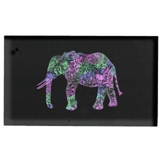 éléphant au néon floral tribal coloré minimaliste porte-photos