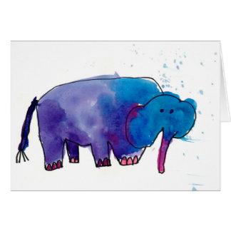Éléphant bleu • Gracie Glaser, âge 6 Cartes De Vœux