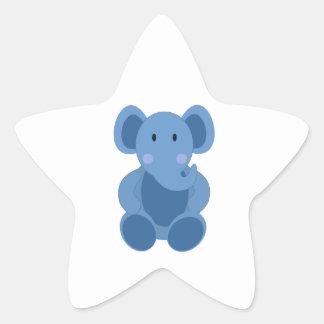 Éléphant bleu mignon de bande dessinée