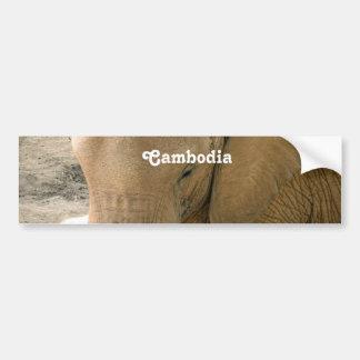 Éléphant cambodgien autocollant pour voiture