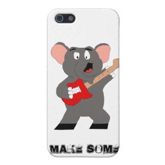 Éléphant de bande dessinée avec la guitare coque iPhone 5