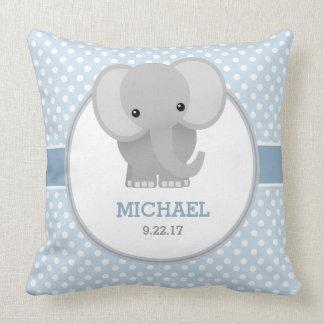 Éléphant de bébé (bleu) oreiller