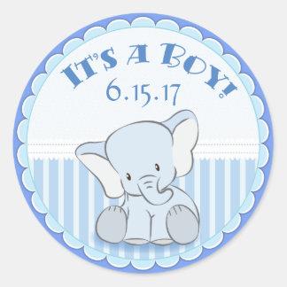 Éléphant de bébé c'est des autocollants d'un