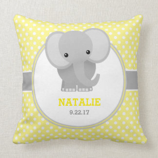 Éléphant de bébé (jaune) oreillers