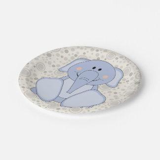 Éléphant de bleus layette de Cutelyn Assiette En Papier 17,8 Cm