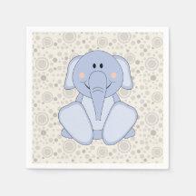 Éléphant de bleus layette de Cutelyn Serviette Jetable