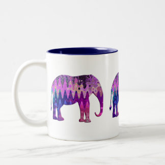 Éléphant de Digitals Tasse 2 Couleurs