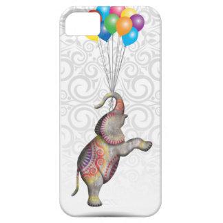 Éléphant de flottement de paix avec des ballons coque barely there iPhone 5