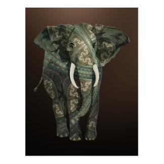 Éléphant de fractale carte postale