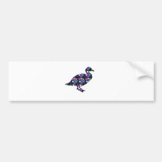 Éléphant de graphique de rose d'étoile de papillon autocollant de voiture