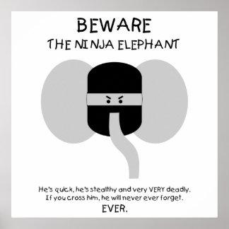 Éléphant de Ninja ! Affiche