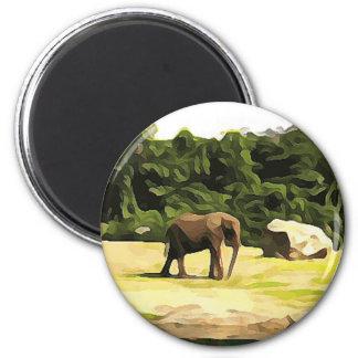 Éléphant de safari aimant