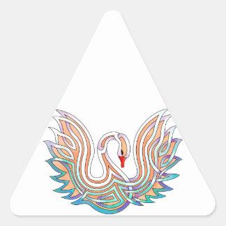 Éléphant de son de la trompette stickers en triangle