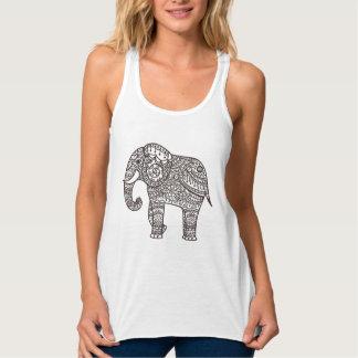Éléphant décoratif de style débardeur