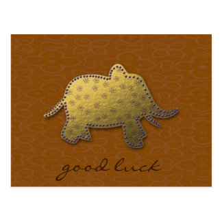 éléphant d'or carte postale
