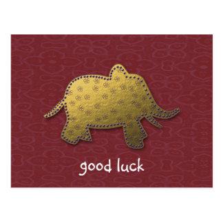 éléphant d'or cartes postales