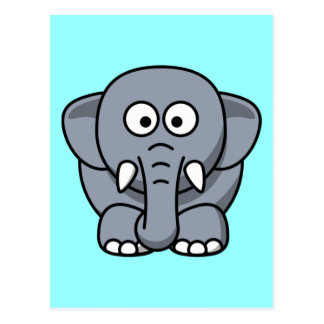 Éléphant drôle mignon cartes postales