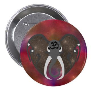 Éléphant écoutant le cosmos badge