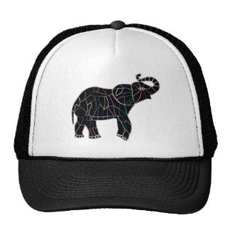 Éléphant électrique au néon casquette