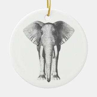 Éléphant en noir et blanc décorations de noël