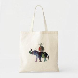 Éléphant et ballerine tote bag
