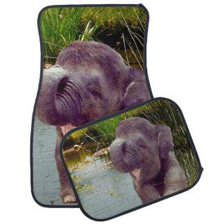 Éléphant et eau tapis de sol