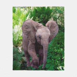 Éléphant et jungle couverture polaire