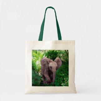 Éléphant et jungle tote bag