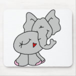 Éléphant gris mignon tapis de souris