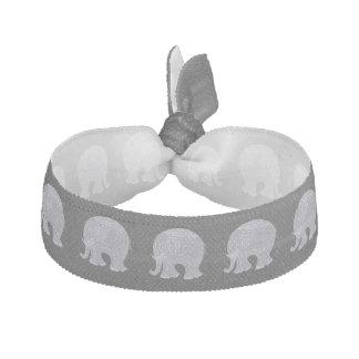 Éléphant gris très mignon de griffonnage élastique pour cheveux