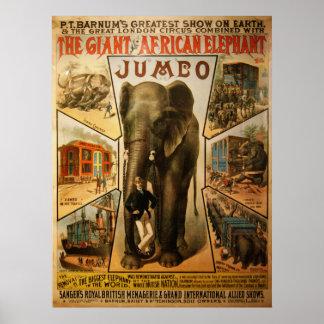 Éléphant, l'affiche géante d'éléphant africain poster