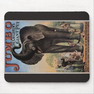 Éléphant le rétro théâtre d éléphant géant tapis de souris