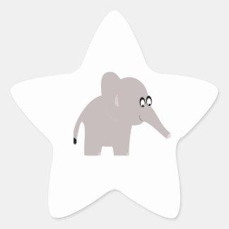 Éléphant mignon autocollant en étoile