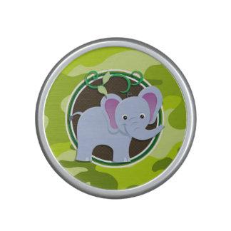 Éléphant mignon camo vert clair camouflage haut-parleur