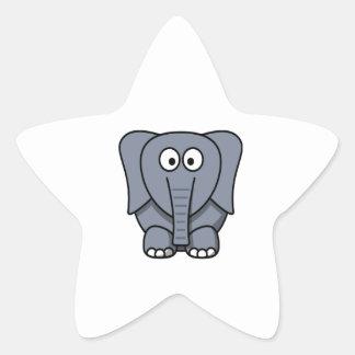Éléphant mignon Clipart de bande dessinée Autocollants En Étoile