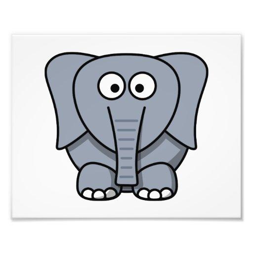 Éléphant mignon de bande dessinée  tirage photo