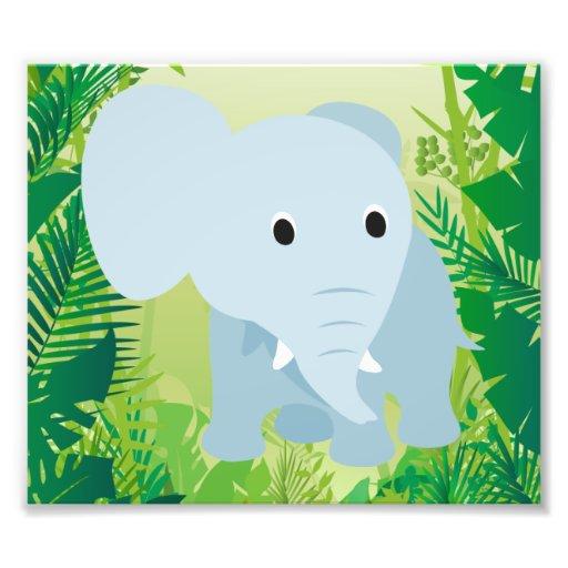 Éléphant mignon de bébé  tirage photo