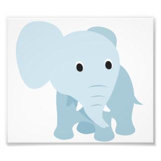Éléphant mignon de bébé impressions photographiques