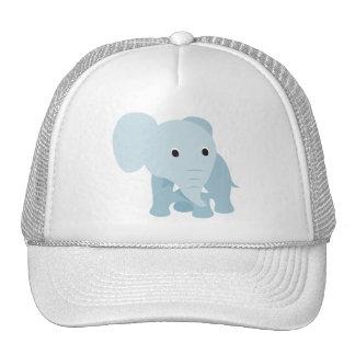 Éléphant mignon de bébé casquettes de camionneur