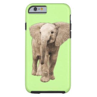 Éléphant mignon de bébé coque iPhone 6 tough