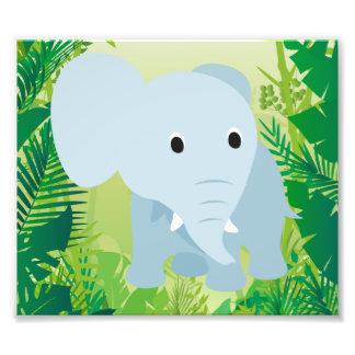 Éléphant mignon de bébé impression photo